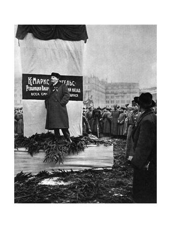 Vladimir Ilich Lenin, Russian Bolshevik Leader, Moscow, Russia, 7 November 1918 Giclee Print