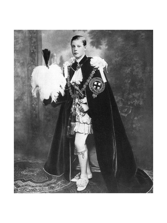 Edward, Prince of Wales as a Knight of the Garter, Early 20th Century Giclee Print