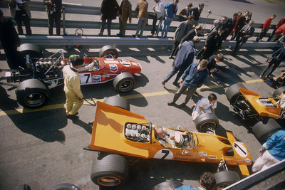 Denny Hulme's Mclaren Ford at the British Grand Prix, Silverstone, Northamptonshire, 1969 Photographic Print