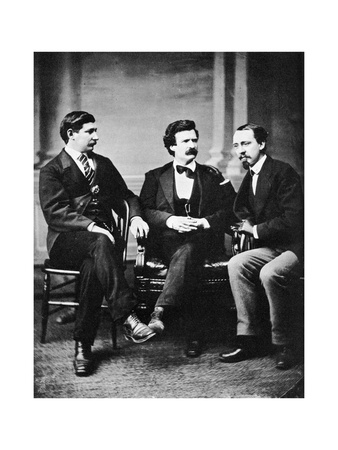 Alfred Townsend, Mark Twain and David Gray, 1871 Giclee Print by MATHEW B BRADY