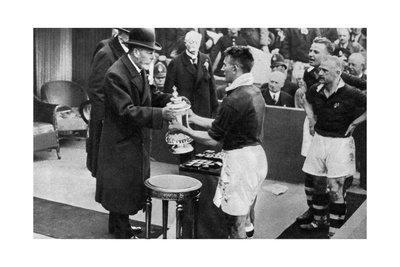 King George V Presenting the Fa Cup, Wembley Stadium, London, C1923-1936 Giclee Print