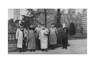 The King of Bavaria Visiting the Imperial German Army Headquarters, 1917 Giclee Print