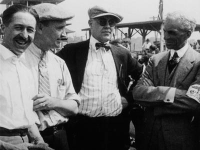 Jules Goux, Barney Oldfield and Henry Ford, Indianapolis, 1921 Photographic Print