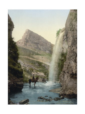 Waterfall Near Kislovodsk, Russia, C1895 Giclee Print