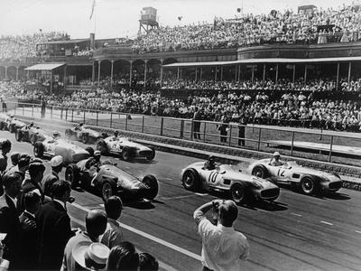 Start of the British Grand Prix, Aintree, Liverpool, 1955 Photographic Print
