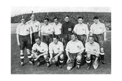 British Olympic Football Team, Berlin Olympics, 1936 Giclee Print