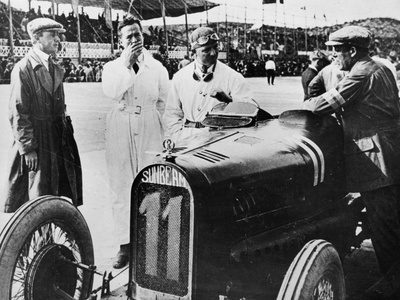 Sunbeam at the Spasish Grand Prix, Sitges, Near Barcelona, 1923 Photographic Print