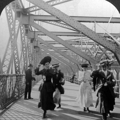 The Promenade, Williamsburg Bridge, New York, USA, C1900s Photographic Print
