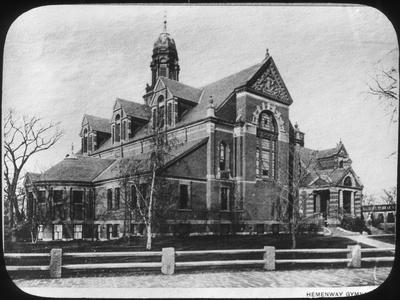 Hemenway Gymnasium, Harvard University, Massachusetts, USA, Late 19th or Early 20th Century Photographic Print