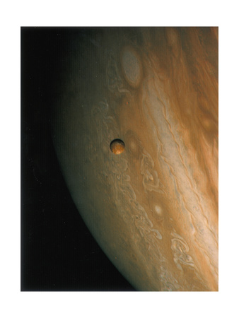 Jupiter and Io, One of its Moons, 1979 Giclee Print