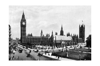 The Houses of Parliament and Westminster Hall Seen from Parliament Square, London, C1905 Giclee Print