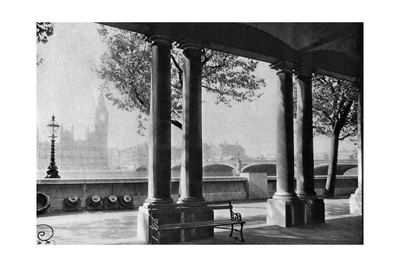 Westminster Bridge and Big Ben from the Terrace of St Thomas's Hospital, 1926-1927 Giclee Print