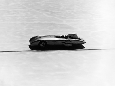 Donald Healey's Austin Healey Attempting a Land Speed Record, 1953 Photographic Print