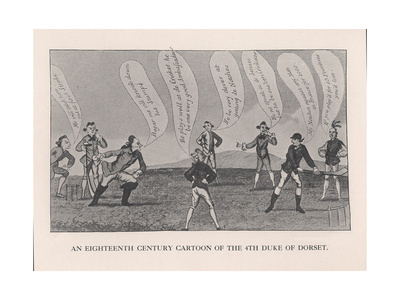 Edward Sackville, 4th Duke of Dorset, Playing Cricket, 18th Century Giclee Print