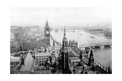 The Houses of Parliament, as Seen from Victoria Tower, Westminster, London, C1905 Giclee Print