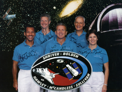 The Crew of Space Shuttle Mission Sts-31, 1990 Photographic Print