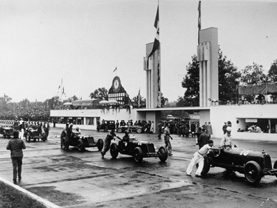 Parade at the Italian Grand Prix, Monza, 1933 Photographic Print