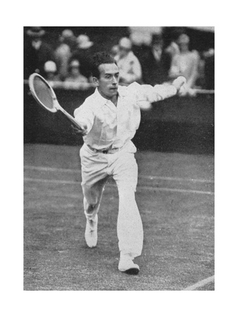 Henri Cochet, the Fastest Player of His Time, Wimbledon, 1927 Giclee Print