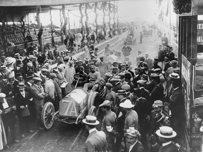 Vincenzo Trucco at the Start of the Targa Florio, Sicily, 1908 Photographic Print