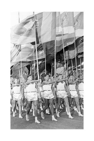 Sport Parade in Moscow's Red Square, USSR, 1930S Giclee Print