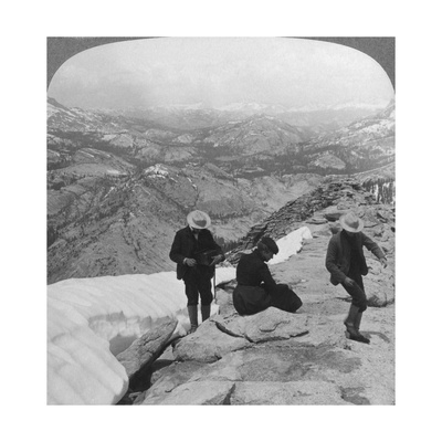 View from Clouds Rest over Tenaya Lake to the Distant Matterhorn, California, USA, 1902 Giclee Print by  Underwood & Underwood