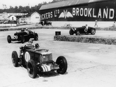 Action from the British Empire Trophy Race, Brooklands, Surrey, 1935 Photographic Print