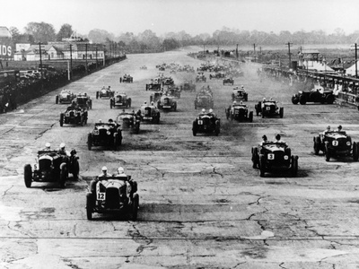 Motor Race, Brooklands, Surrey, 1920S Photographic Print