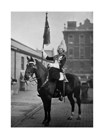 Squadron Corporal Major of the 1st Life Guards with Standard, 1896 Giclee Print by  Gregory & Co!