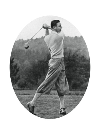 The Duke of York Playing Golf in 1934 Giclee Print