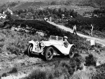 1935 Riley Imp 9Hp Competing in the Lawrence Cup Trial Photographic Print