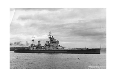 British Battleship HMS King George V, Sydney, Australia, 1945 Giclee Print