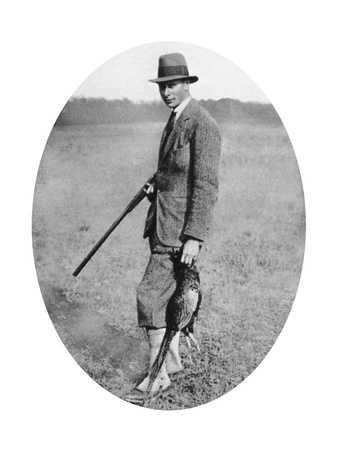 The Duke of York at a Shooting Party in 1922 Giclee Print