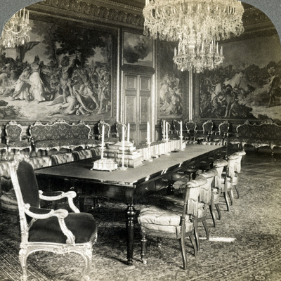 Council Chamber of King Oscar II, Royal Palace, Stockholm, Sweden Photographic Print by  Underwood & Underwood