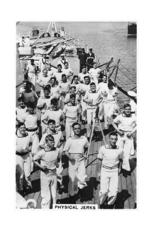 Physical Jerks, Exercise on Board HMS Devonshire, 1937 Giclee Print