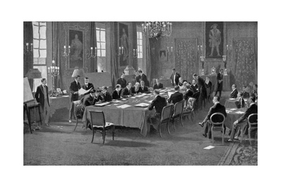 Signing the Treaty of London, May 1913 Giclee Print by Samuel Begg