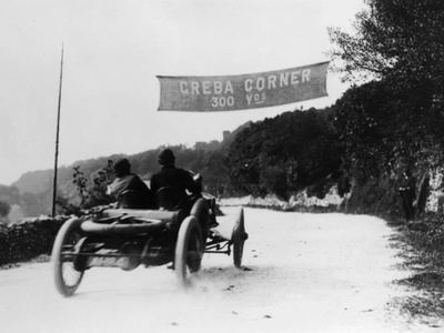 T Thornycroft in a Thornycroft Car in a Tt Race, 1908 Photographic Print
