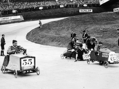 Soap Box Derby at Brooklands, Surrey Photographic Print