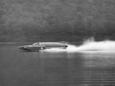 Donald Campbell in Bluebird K7, Coniston Water, Cumbria, 1958 Photographic Print