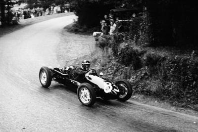 A Racing Driver Speeding Round a Bend, Harleyford Hill Climb, Buckinghamshire, (C1950-C1960) Photographic Print