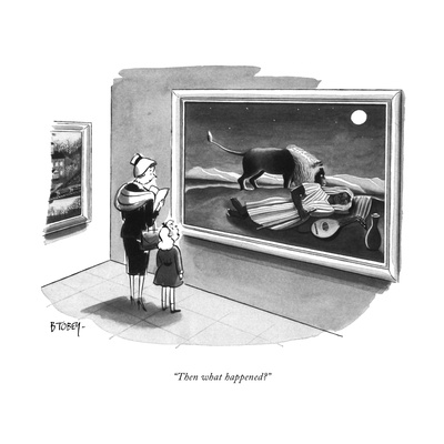 """Then what happened"" - New Yorker Cartoon Giclee Print by Barney Tobey"