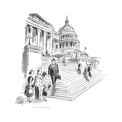 """Are you anybody"" - New Yorker Cartoon Giclee Print by Barney Tobey"