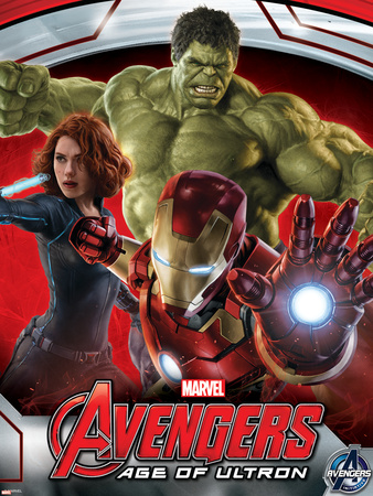 The Avengers: Age of Ultron – Iron Man, Black Widow, and Hulk Plastic Sign