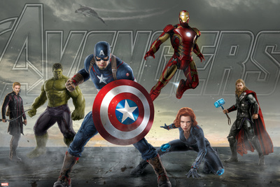 The Avengers: Age of Ultron – Thor, Hulk, Captain America, Hawkeye, Black Widow, and Iron Man Plastic Sign