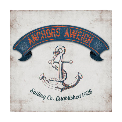 Anchors Aweigh Border Posters by Tiffany Everett