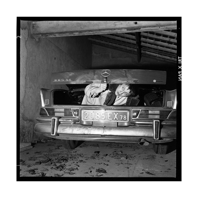 Raymond Devos Hiding in a Boot Photographic Print by Thérese Begoin
