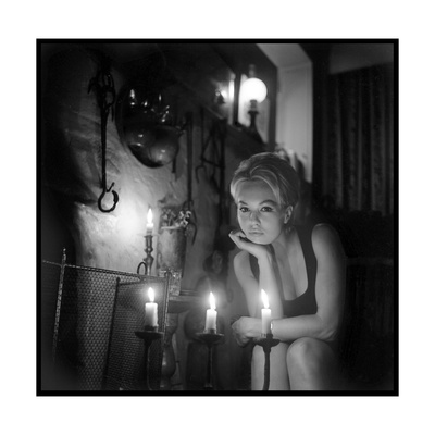 Mylène Demongeot by Candlelight, October 1965 Photographic Print by  DR