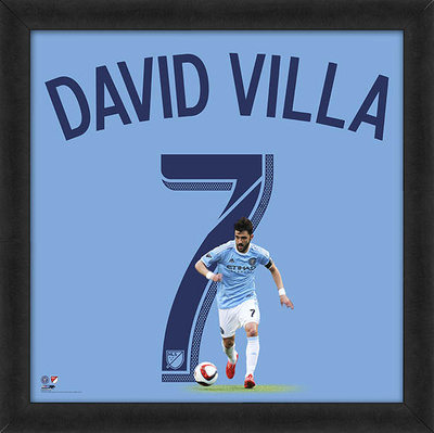 David Villa, New York City FC Framed photographic representation of the player's jersey Framed Memorabilia