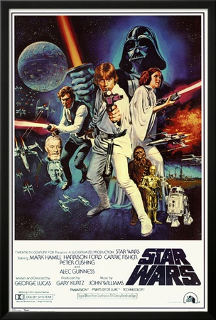 Star Wars - Episode IV New Hope - Classic Movie Poster Póster enmarcado con Lamina