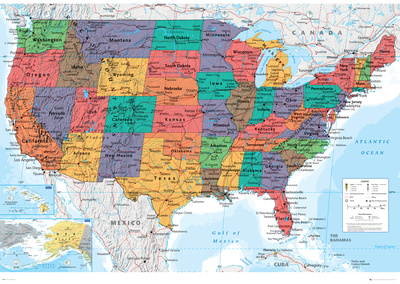 USA Map Posters