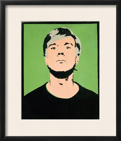 Self-Portrait, c.1964 (on green) Prints by Andy Warhol